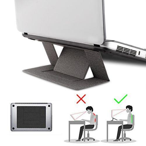 Portable Adjustable Laptop Stand Convenient Laptop Pad Folding Bracket Function Tablet Holder For IPad MacBook Laptop(pink))