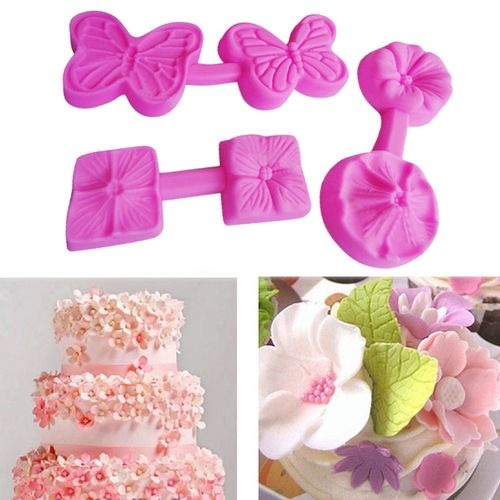 Dtrestocy New Silicone 3D Flower Shape Fondant Cake Chocolate Sugarcraft Mould Mold Tools
