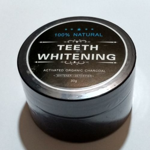 Pack Of 2 Cups Teeth Whitening Powder Natural Organic Activated Charcoal Toothpaste-Black