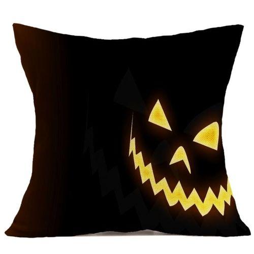 Houseworkhu Halloween Pillow Case Sofa Waist Throw Cushion Cover Home Decor -Black