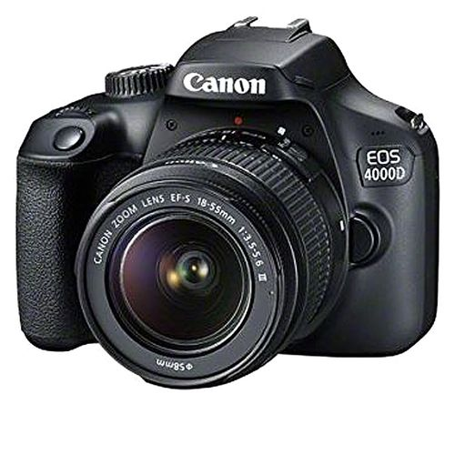EOS 4000D DSLR Camera With EF-S 18-55 Mm F/3.5-5.6 III Lens - Black