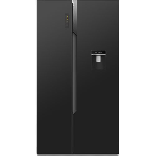 Side By Side Refrigerator With Water Dispenser -REF67WSBG-Black Glass (514L)