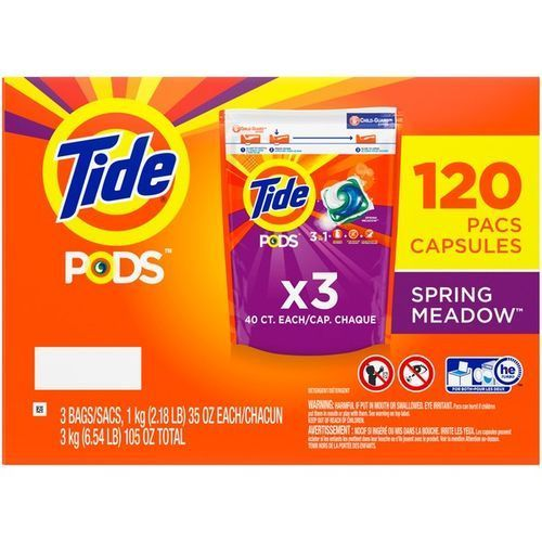 Liquid Laundry Detergent Pacs, Spring Meadow, 120 Count.