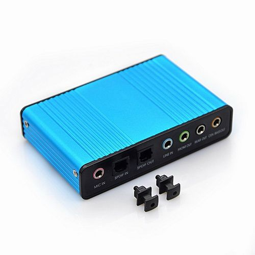 New Style 6 Channel 5.1 External Optical Audio Sound Card Fo
