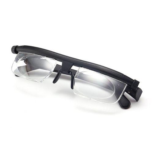 Adjustable Focus Glasses Non-Prescription Lenses Magnifying Unisex Glasses Black