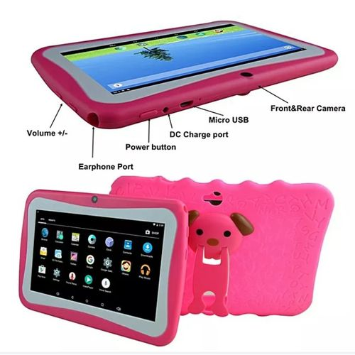 Educational Android Learning Tablet For Kids With Standing Silicon Case