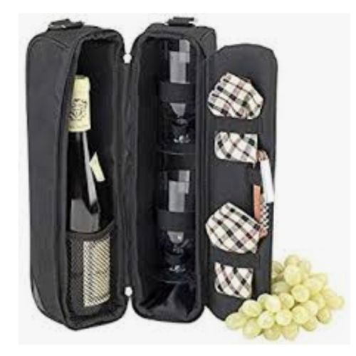Mobile Champagne / Cooler Bag With Glass Compartment