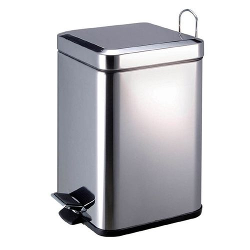 6 Litre Square Stainless Steel Bin