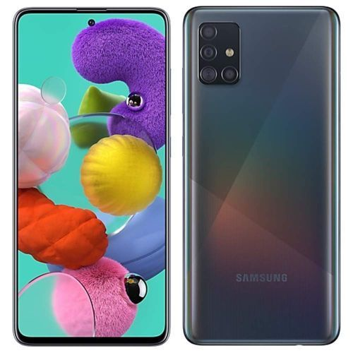 GALAXY A51 6.5'' (4GB,128GB ROM) Android10.0, (48MP +12MP + 5MP + 5MP) + 32MP Dual SIM - Prism Crush Black