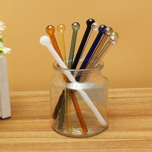 Reusable Glass Drinking Straw Tube Cocktail Stir Party Weeding Identify Sucker