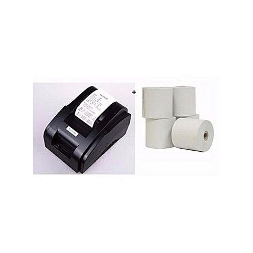 58mm Thermal Receipt POS Printer + 5 Rolls Paper
