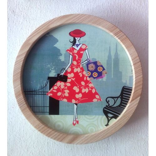 Wooden Wall Art Frame - Round