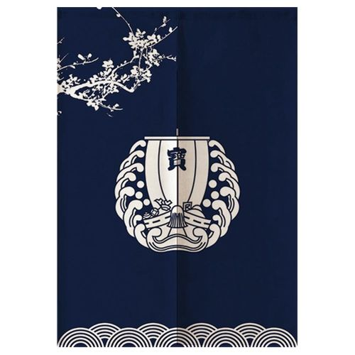"""Japanese Curtains,Japanese Noren Doorway Curtain/Tapestry 33.5"""" Width X 47.2"""" Long, For Restaurant Home Decoration, Treasure Ship"""
