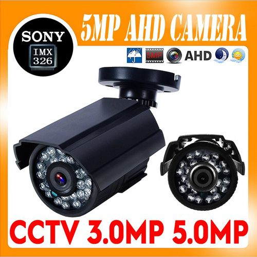 Sony IMX326 Sensor 5MP 2MP FULL HD AHD Camera 1080P AHD-H Security Bullet CCTV Camera Outdoor Waterproof IP66 IRCUT Night Vision(TopGrade-5MP-SONY326)(2.8mm)