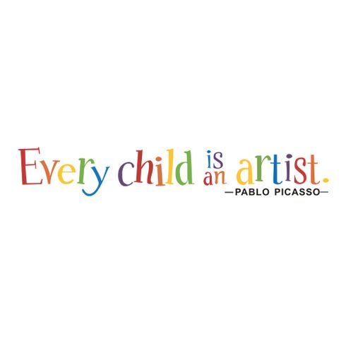 Schoolcool Every Child Is An Artist Removable Art Vinyl Mural Home Room Decor Wall Stickers