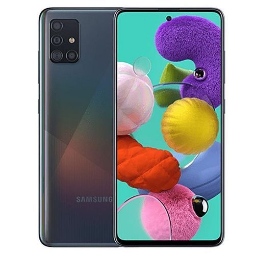 Galaxy A51 6.5-Inch (4GB,128GB ROM) Android10.0, (48MP +12MP + 5MP + 5MP) + 32MP Dual SIM - Prism Crush Black