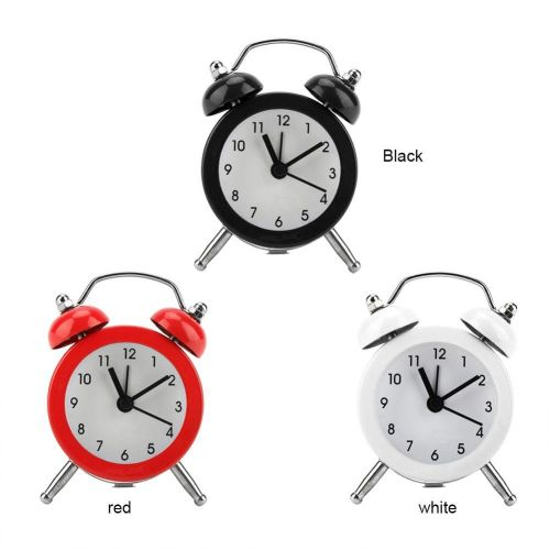 3Inch Portable Fashion Mini Metal Digital Alarm Clock With Battery Exquisite For Student Home