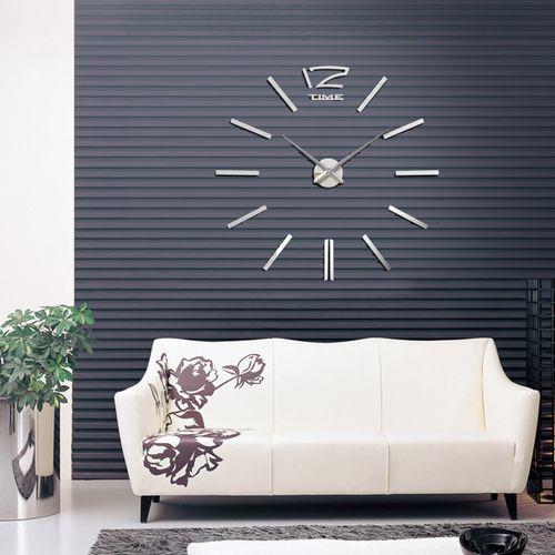 3D Mirror Surface Acrylic Wall Clock Stickers DIY Quartz Watch Living Room Decor