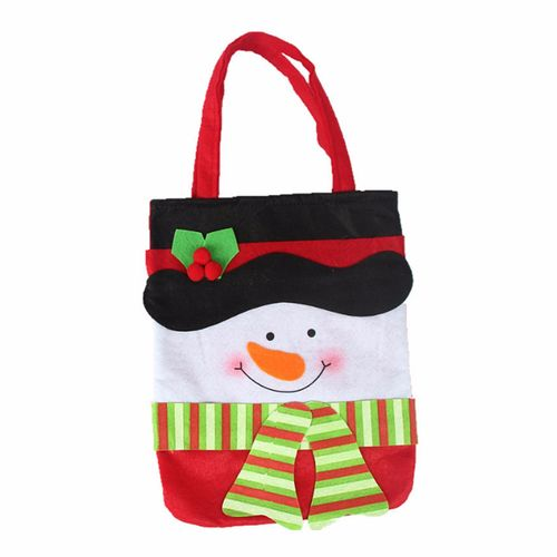 Santa Claus Snowman Christmas Decoration Xmas Candy Gift Bag Pouch Stocking Bags