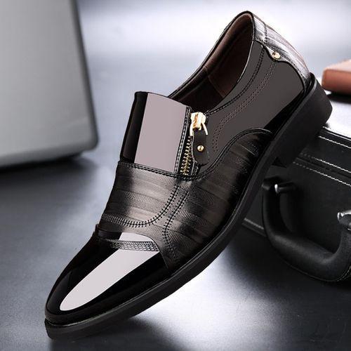 Men's Slip-On Pointed Toe Shoes - Black