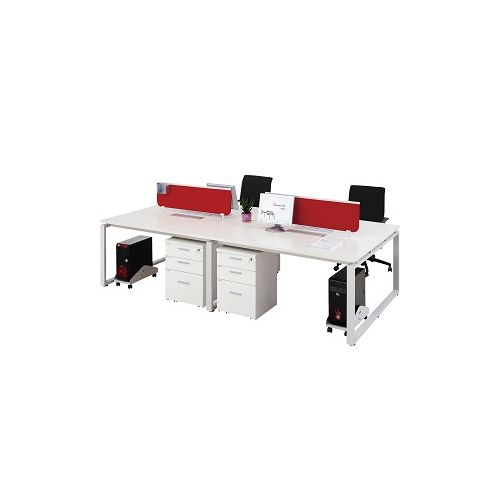 4 Person Workstation Two Sided Office Desk