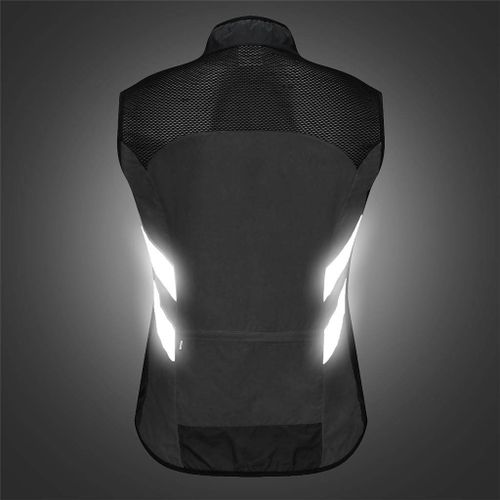 Men Safety Running Cycling Vest Windproof Reflective Jersey Shirt
