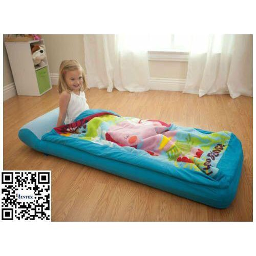 Inflatable Kids Airbed With Blanket & Pump