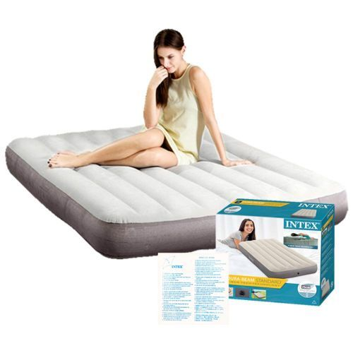 Deluxe High Twin Size Airbed With Fiber-Tech