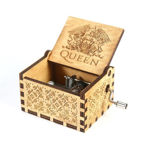 Wooden Music Box Classic Music Box Crafts With Hand Crank
