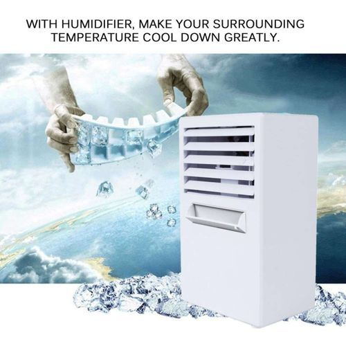 Desktop Mini Air Conditioner Fan Home Office Humidifier Moisturizing Device Portable Humidification