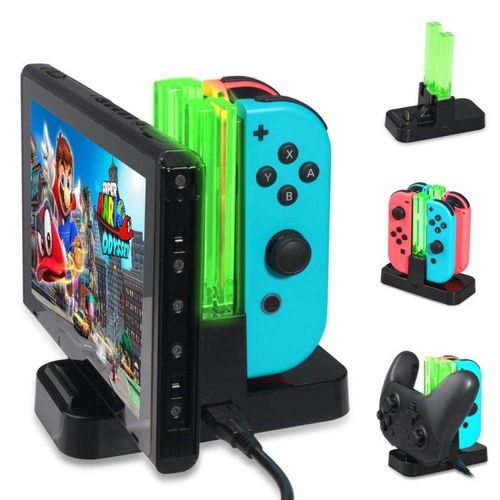Charging Stand For Nintendo Switch With 2 Type-C USB Port & 1 Type-C USB Cable