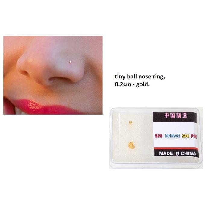 Fashion Nose Ring Ball Shape Tiny 0 2cm Piercing Coated Gold