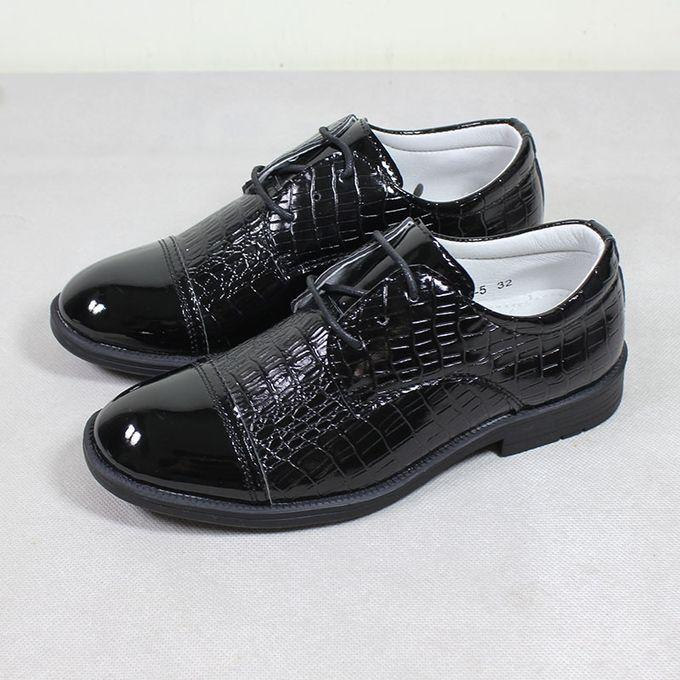 Shoes Boys Smart Formal Shoes-Black