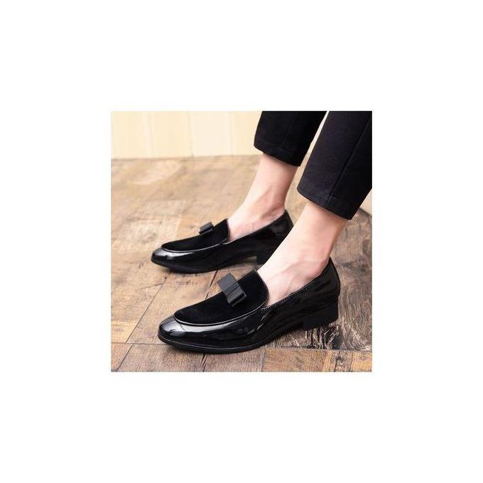 Varrati Men Dress Shoes Office Patent SUEDE TIE Wedding
