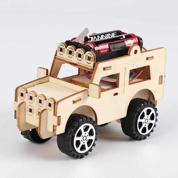 Poplikdfr Diy Robot Mini Powered Toy Car Kit Moving Jeep Shape Toy Educational Teaching Hobby Car Kit Toy