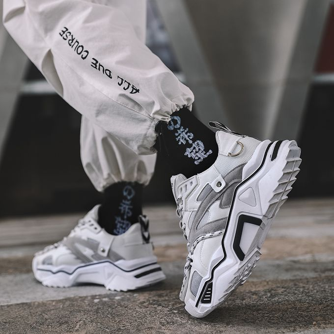 Fashion 2020 New Men's Thick Sneakers