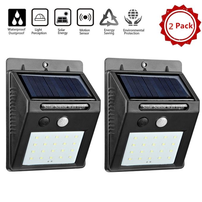 Generic 20 Led Solar Light Wall Lamp, Outdoor Led Wall Lights With Motion Sensor