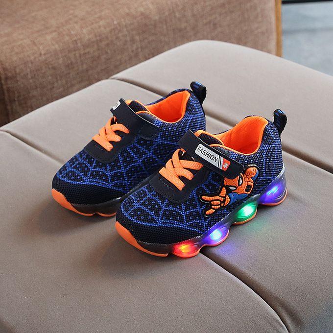 Mesh Shoes LED Luminous Shoes-Blue