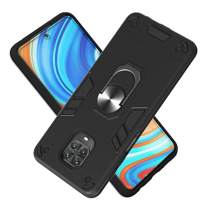 Generic For Xiaomi Redmi Note 9s Note 9 Pro Note 9 Pro Max 2 In 1 Armour Series Pc Tpu Protective Case With Ring Holder Black Jumia Nigeria