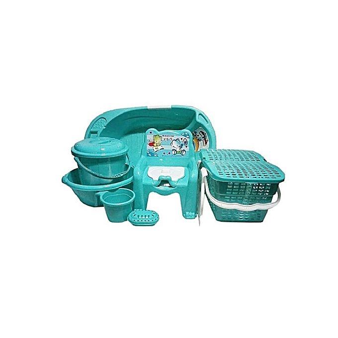 Cherish Baby Bath Set - 7pcs - Green | Jumia Nigeria