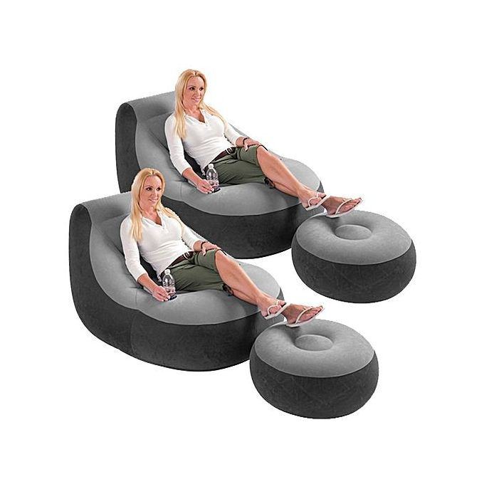 Swell Inflatable Lounge Chair And Foot Rest With Free Pump Onthecornerstone Fun Painted Chair Ideas Images Onthecornerstoneorg