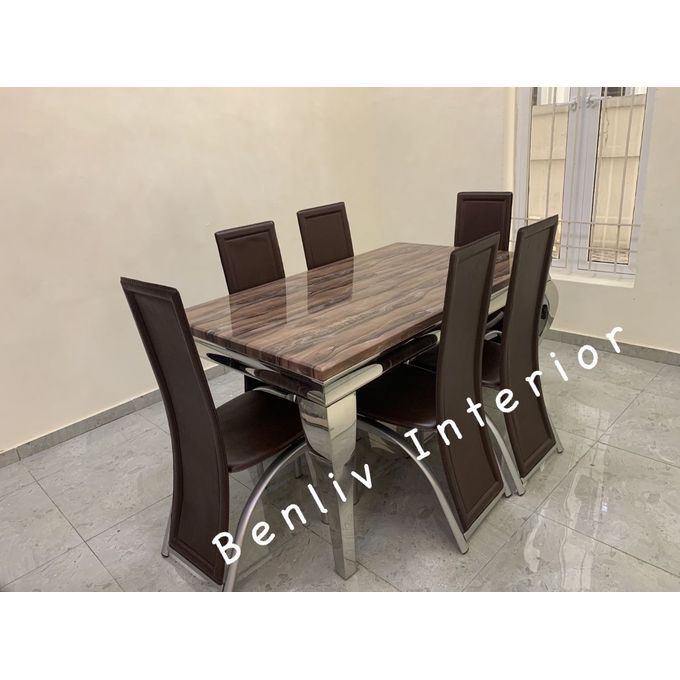 Generic Dining Table With 6 Sitting Chairs (Lagos Delivery