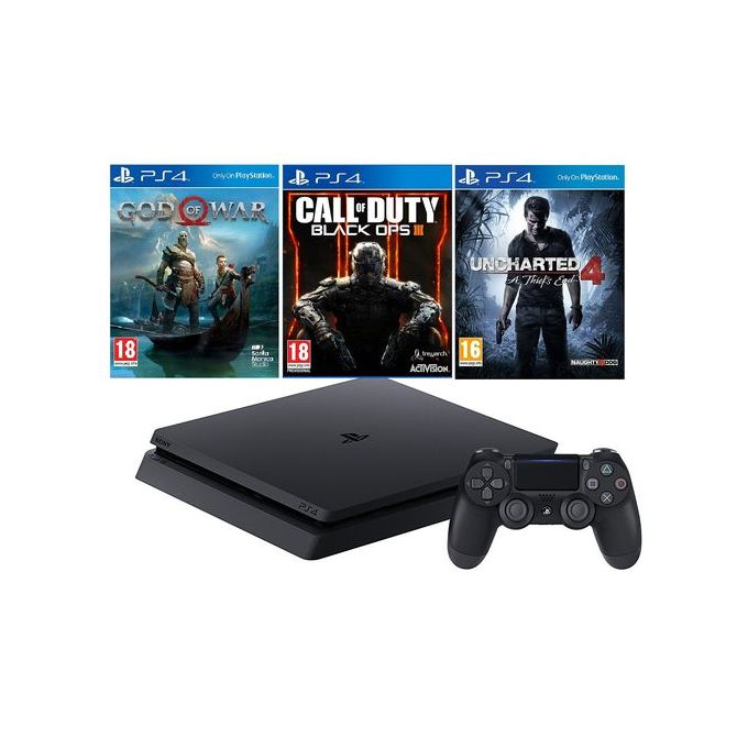 Sony Ps4 500gb Slim God Of War 4 Black Ops 3 Uncharted 4 Bundle