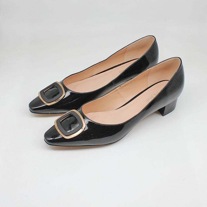 Fashion Ladies Low Heel Patent Office