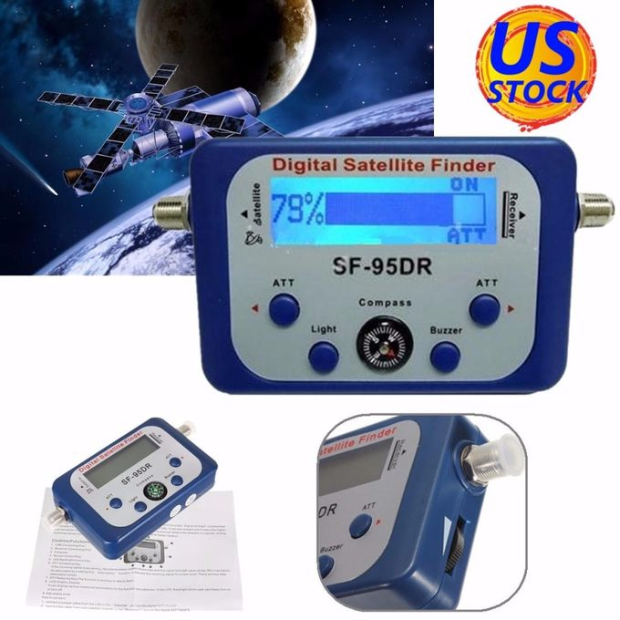 SF-95DR Digital Satellite Signal Meter Finder Directv Dish with Compass FAT !