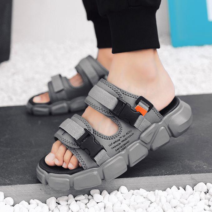 Fashion Men S Fashion Platform Slippers Sports Sandals Grey Jumia Nigeria