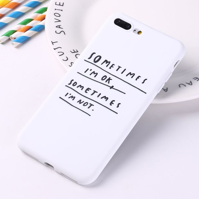 For Iphone 8 8plus X 7 7plus Soft Tpu Silicone Matte Case Girl Sticker Memes Cool Quote Funny Words For Xs Max X Xr Hls