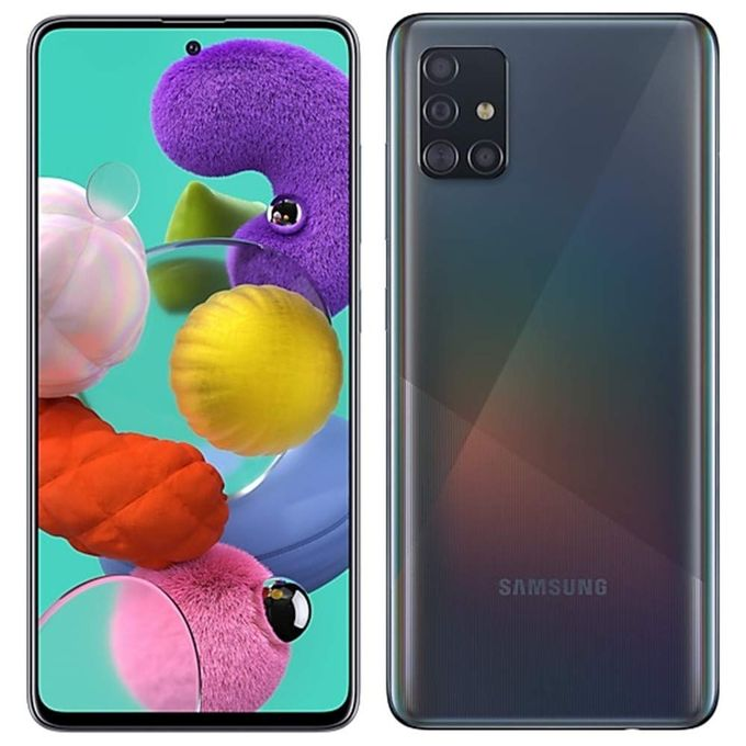 product_image_name-Samsung-Galaxy A51 6.5'' (6GB,128GB ROM) Android10.0, (48MP +12MP + 5MP + 5MP) + 32MP Dual SIM - Prism Crush Black-1