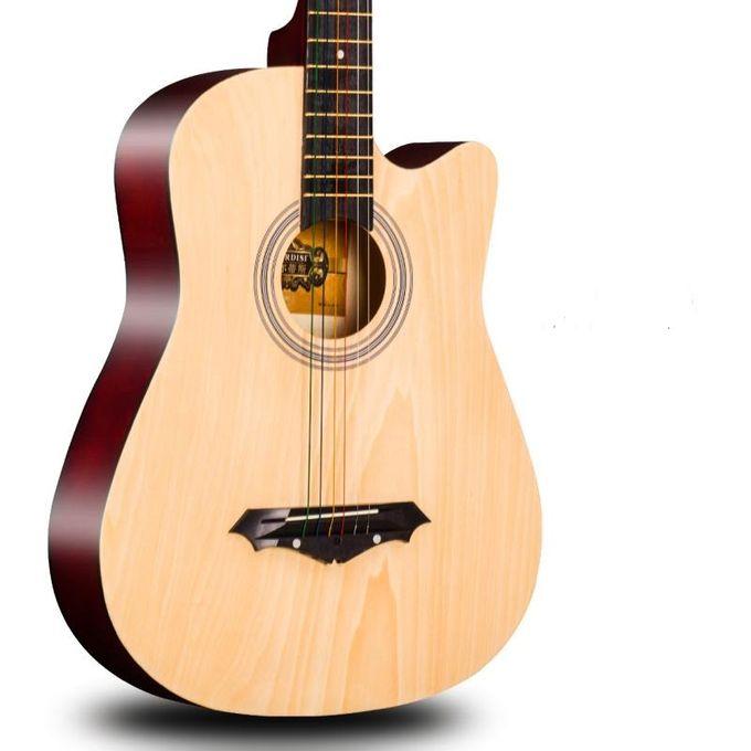 Generic Acoustic Box Guitar With Capo Bag And Strap Natrural Jumia Nigeria