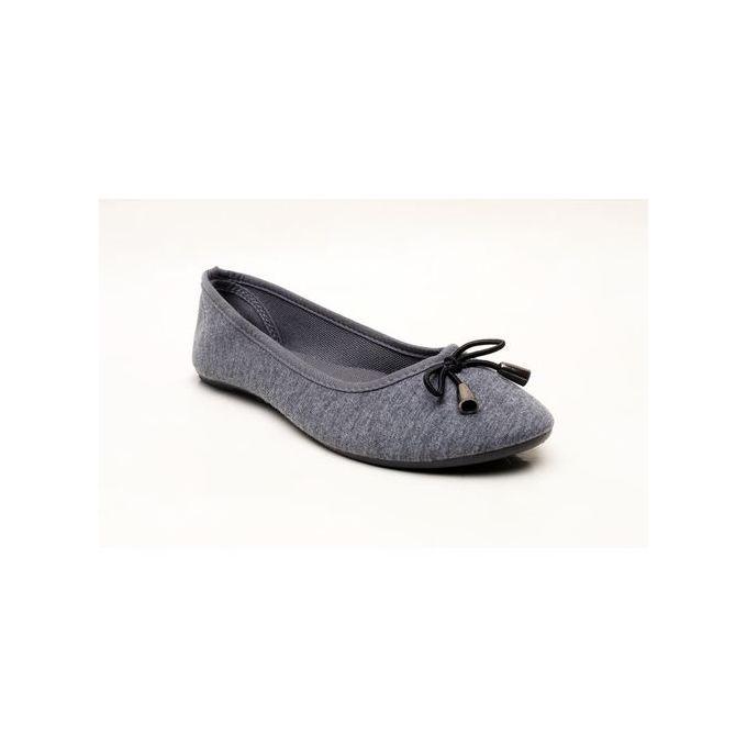 Women Flat Office Shoes- Dark Ash